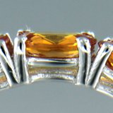 Witgouden alliance ring met 5.25 ct saffier_
