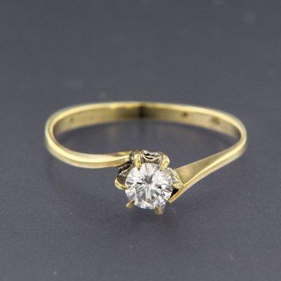 Gouden ring met 0.26 ct diamant