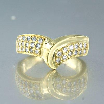 Gouden ring met 0.40 ct diamant