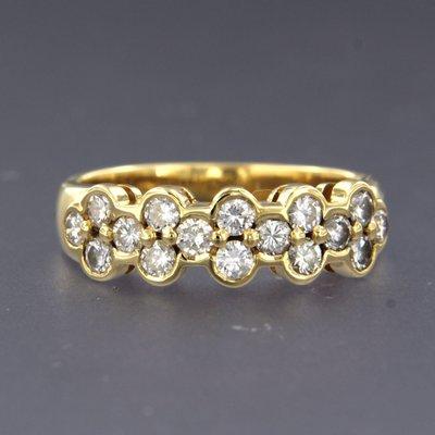 Gouden ring met 0.85 ct diamant