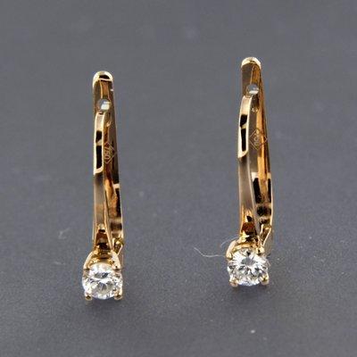 Roségouden oorhangers met 0.09 ct diamant