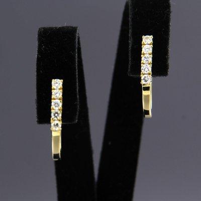 Gouden oorhangers met 0.36 ct diamant