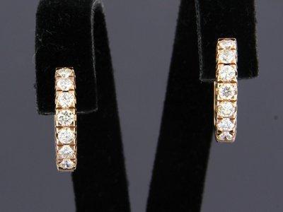 Roségouden ceolen met 0.76 ct diamant