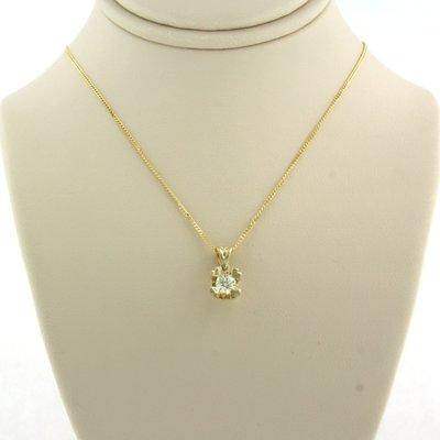 Gouden collier met 0.23 ct diamant