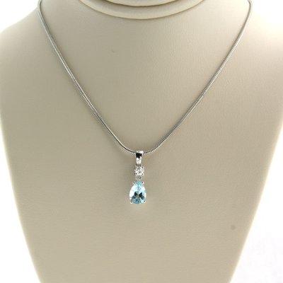 Witgouden collier met 0.07 ct diamant