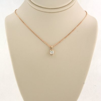 Rose gold with 0.10 ct diamond