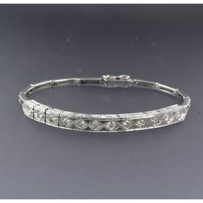 Witgouden armband met 1.20 ct diamant