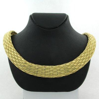 Gouden collier met gevlochten motief