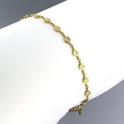 Gold bracelet with 0.95 ct diamond