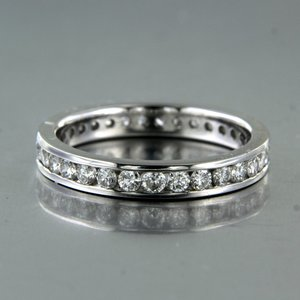 Witgouden alliance ring met 1.40 ct diamant
