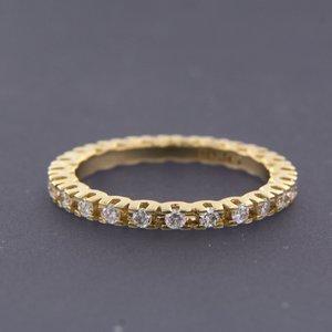 Gouden alliance ring met 0.56 ct diamant