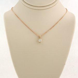 Roségouden met 0.10 ct diamant